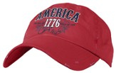 America 1776 Patriotic Cap, Red