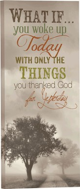 Canvas Mounted Print -Thanking God Daily 8w x 18h x 1d