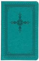 KJV Ultraslim Bible, Imitation Leather, Turquoise Indexed