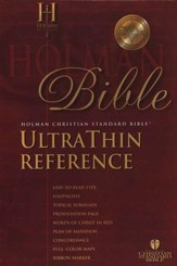 HCSB UltraThin Reference Bible Genuine Leather, Burgundy