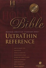 HCSB UltraThin Reference Bible, Bonded Leather, Burgundy