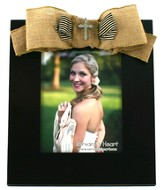 Bling Cross Photo Frame, with Burlap Bow