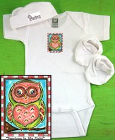 Owl Newborn Gift Set, Precious In His Sight, Pink