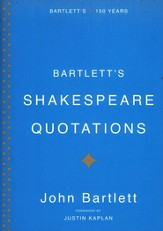 Bartlett's Shakespeare Quotations, slightly imperfect