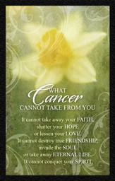 What Cancer Cannot Do Daffodil Magnet