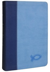 KJV Study Bible for Boys, Duravella, Duotone, blue/light blue - Slightly Imperfect