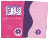 KJV Study Bible for Girls, Duravella, Duotone, purple/pink
