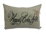 Happily Ever After, Oversized Burlap Pillow