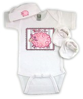 Bundle of Joy Lamb Newborn Set, Pink - Slightly Imperfect