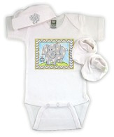 Elephant Newborn Set, Gray