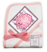 Bundle of Joy Lamb Hooded Towel, Pink
