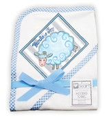 Bundle of Joy Lamb Hooded Towel, Blue