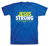 Jesus Strong Shirt, Blue, Youth Small