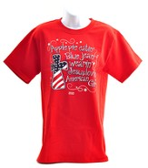 American Girl Patriotic Shirt, Red, X-Large