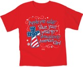 American Girl Patriotic Shirt, Red, Youth Small