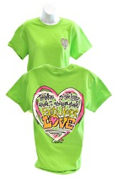 Girly Grace Faith, Hope, Love Shirt, Lime,   Extra Large