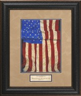 Impressions of Old Glory Framed Print