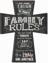 Family Rules Wall Cross 17