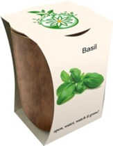 Bamboo Fiber Jar, Indoor/Outdoor Grow Kit, Basil