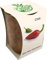 Bamboo Fiber Jar, Indoor/Outdoor Grow Kit, Chili Pepper