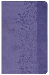 GOD'S WORD Thinline Bible, Duravella, Lilac, Springtime Design