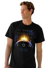 My World Revolves Around the Son Shirt, Black, Medium (38-40)