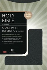 NKJV Giant Print Center-Column Reference Bible, Bonded leather, black - Slightly Imperfect