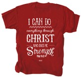 I Can Do Everything Through Christ Shirt, Red, XXX-Large