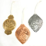 Angels In Song, Mixed Metal Ornaments, Set of 3