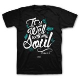 It Is Well With My Soul Shirt, Black, XXX-Large