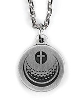 Golf Ball and Cross Necklace