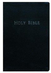 KJV Personal-Size Giant-Print Reference Bible--bonded leather, black - Slightly Imperfect