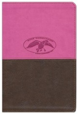 NKJV Duck Commander Faith & Family Bible, Soft leather-look, Pink/Brown