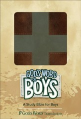 God's Word for Boys, Duravella Brown/Slate, Cross Design