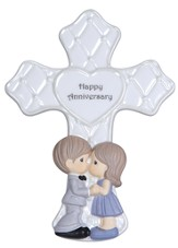 Precious Moments, Happy Anniversary Tabletop Cross