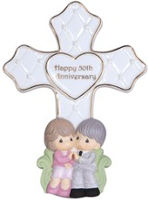 Precious Moments, Happy 50th Anniversary Tabletop Cross