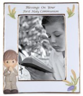 Precious Moments, Blessings On Your First Holy Communion Photo Frame, Boy