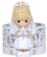 Precious Moments, Blessings On Your First Holy Communion LED Figurine, Girl