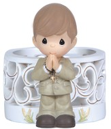 Precious Moments, Blessings On Your First Holy Communion LED Figurine, Boy