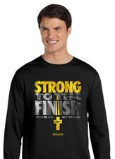 Strong To the Finish, Long Sleeve Shirt, Black, X-Large