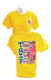 Girly Grace TGIF Shirt, Yellow,   Extra Large