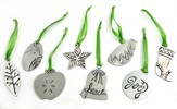 Simple Gifts Pewter Ornaments, Set of 8