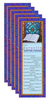 Favorite Scripture Passages Bookmark (Package of 25)
