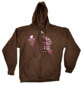 Moms in Prayer Sweatshirt, Brown with Hood - Small