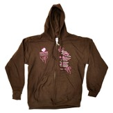 Moms in Prayer Sweatshirt, Brown with Hood - XLarge