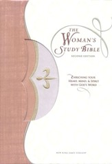 NKJV Woman's Study Bible, Revised Edition, Imitation leather, tan