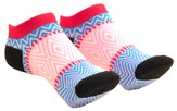 Chevron Ankle Socks, Black Heel
