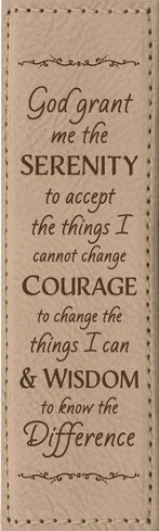 Serenity Prayer Bookmark, Tan