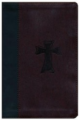 KJV Study Bible for Boys Autumn Bark, Cross Design Duravella - Imperfectly Imprinted Bibles