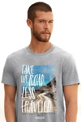 Take the Road Less Traveled Shirt, Gray, Large